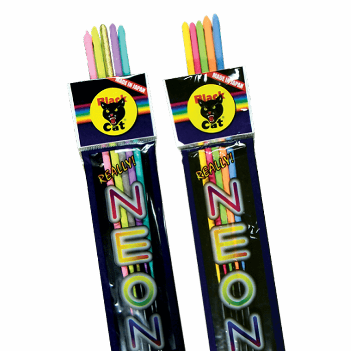 BLACK CAT NEON SPARKLER - Sky King Fireworks